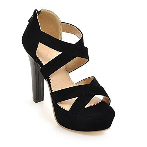 versione sandali grandi dimensioni coreana Black piattaforma di alte di con Estate dei spessore nuovi open Roma cerniera ZHZNVX toe impermeabile con scarpe scarpe con le q5Sx8WwX0E
