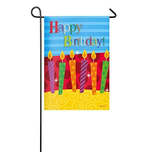 "Evergreen Happy Birthday 12.5"" x 18"" Garden Flag -Birthday C"