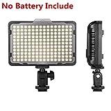 Digital SLR Camera Lighting - Bemaxy 176 Ultra Thin Dimmable Camera Photo/Studio Video LED Light Camcorder Lamp Panel with Color Filters for Nikon, Canon, Panasonic, Tripod, DSLR Camera(NO BATTERY!)