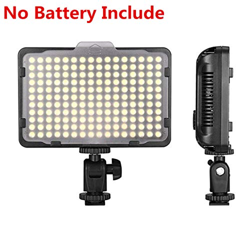 Digital SLR Camera Lighting – Bemaxy 176 Ultra Thin Dimmable Camera Photo/Studio Video LED Light Camcorder Lamp Panel with Color Filters for Nikon, Canon, Panasonic, Tripod, DSLR Camera(NO BATTERY!)