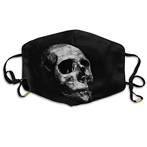 HOODSWOP Dust Mask Women Men Eerie Scary Skull Printed Anti Pollution Face Mask Anti-dust Mouth Mask