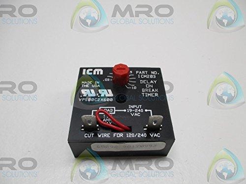 - ICM ICM203 TIME DELAY RELAY .03-10 MIN. NEW NO BOX
