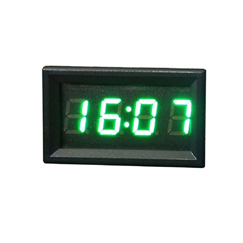 Tonsee Car Motorcycle Accessory 12V/24V Dashboard LED Display Digital Clock(Green)