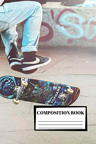 Composition Book: Skateboard | Composition Notebook | 100 Wide Ruled Pages | Journal | Diary | Note por Caro Notebooks