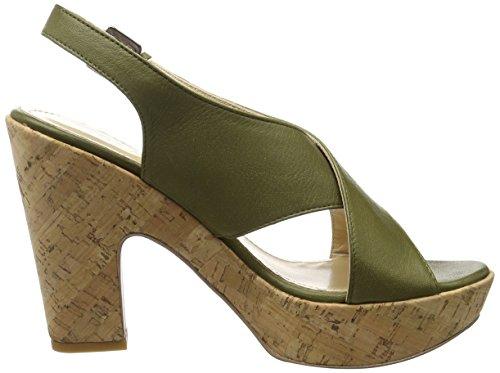 Olive für COPENHAGEN Grün in Keilabsatz mit Damen Sandalen GARDENIA Velvet TzqEw6w