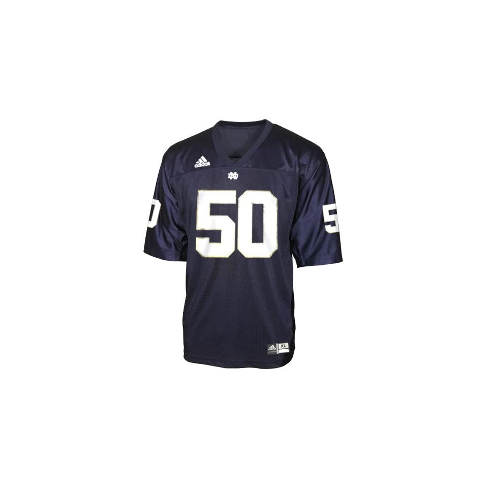 Adidas Notre Dame Fighting Irish #50 Navy Replica Football Jersey