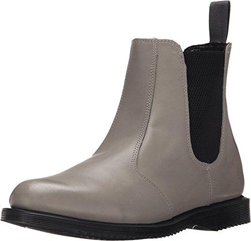 Dr. Martens Women's Flora Chelsea Boots, Grey Leather, 8 M UK, 10 M US