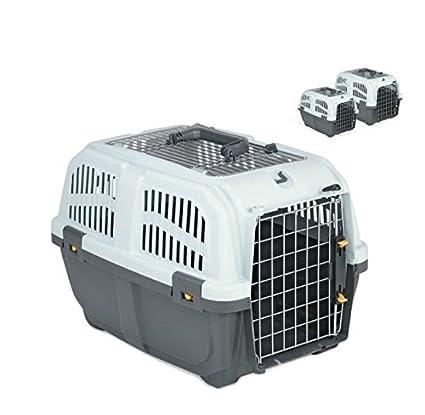 Skudo Open Iata - Transportín homologado para gatos y perros, para viaje y para coche