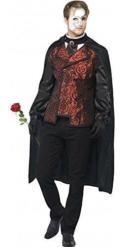 Smiffy's Men's Phantom Of The Opera Fancy Dres Costume Men: Large Black And Red]()