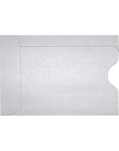 Credit Card Sleeve (2 3/8 x 3 1/2) - Silver Metallic (1000 Qty.) | Perfect for the HOLIDAYS, Gift Cards, Credit Cards, Debit Cards, ID Cards and More! | 1801-06-1M by Envelopes.com