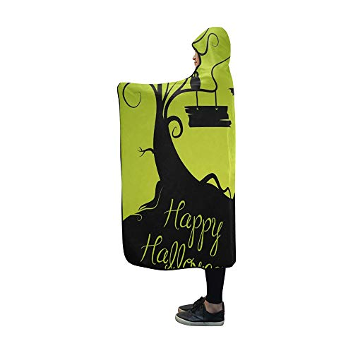 YUMOING Hooded Blanket Halloween Blanket 60x50 Inch Comfotable Hooded Throw Wrap ()