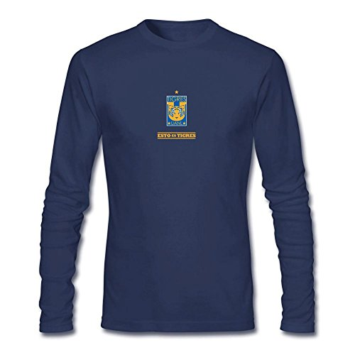 fan products of XIULUAN Men's Tigres UANL Logo Long Sleeve T-shirt L ColorName