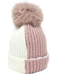 f3f229eb611 Knitted Cozy Warm Winter Snowboarding Ski Hat with Pom Pom Slouchy Hat