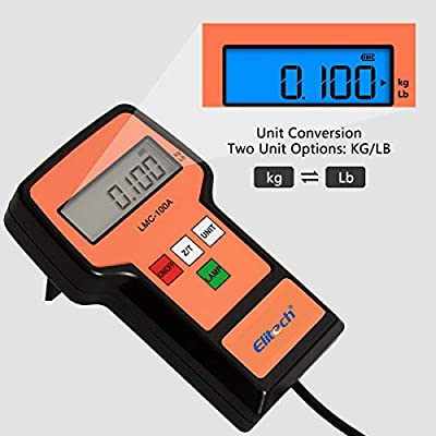 Elitech LMC-100A Digital Electronic Refrigerant Charging Recovery Scale with Wired Remote for HVAC Portable Case 220lbs/100kgs: Automotive