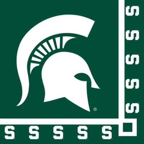 - Pack of 240 NCAA Michigan State Spartans 2-Ply Tailgating Party Beverage Napkins