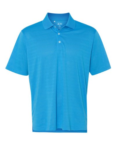 adidas Golf Mens Climalite Textured Short-Sleeve Polo (A161) -Coast -XL
