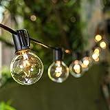 Tomshine Guirnalda Luces, G40 Guirnaldas Luminosas de Exterior, 25 Bombillas Incandescentes Cadena de Luz, perfecto para Fiesta Navidad (2 Bombilla de Repuesto)