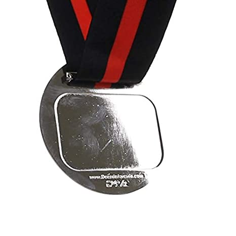 Decade Awards 3D Place Cup Medal 3 Inch Wide Gold Place Medallion with V Neck Ribbon Silver or Bronze