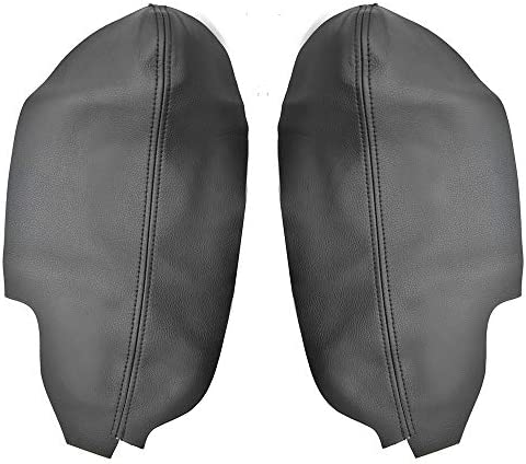 X AUTOHAUX Pair Synthetic Leather Car Front Door Panels Armrest Cover Black for Honda Civic 2006-2011 Sedan