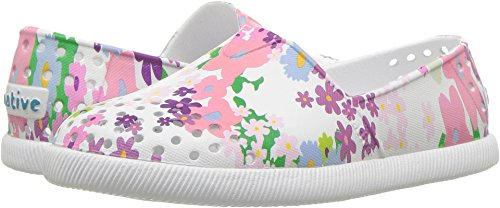 Pictures of Native Kids Print Verona Water Proof Shoes, Shell White/Shell White/Daisy Chain, 10 Medium US Toddler 1