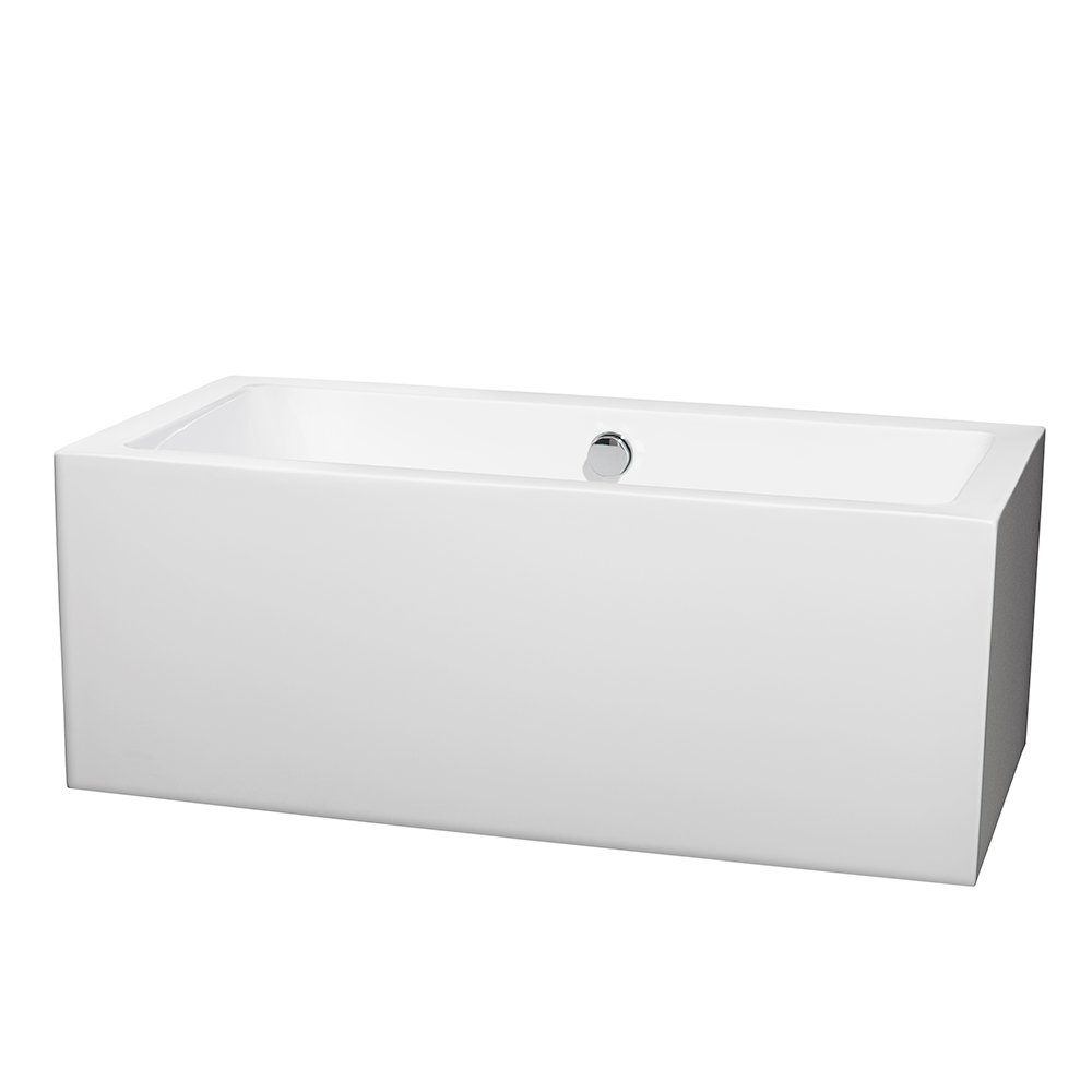 Wyndham Collection Melody 60 inch Freestanding Bathtub for Bathroom ...