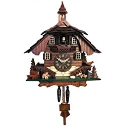 444QM - Engstler Battery-operated Cuckoo Clock - Full Size - - 10.5H x 9W x 6.5D