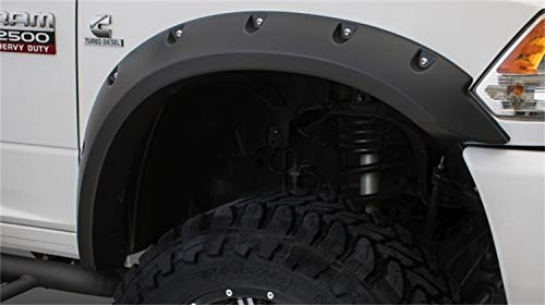 Bushwacker 50921-02 Matte Black Dodge Ram Pocket Style Fender Flare, Set of 4 (Max Coverage)