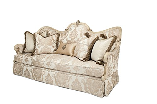 NEW French Provincial Style Platine de Royale Wood Trim Sofa by Michael Amini