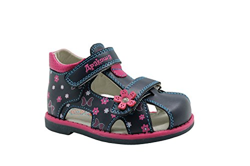Apakowa Boy's and Girl's Double Adjustable Strap Closed-Toe Sandals (Adjustable Strap Sandals)