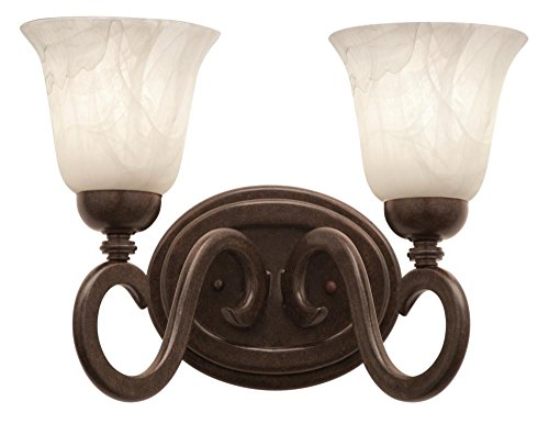 - Kalco 3542TO/PS14 Vanity Lights with Penshell Glass Shades, Tortoise Shell Finish