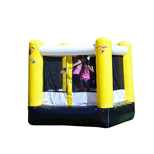 JumpOrange 6' x 6' Kiddo Busy Bee My Guest Party House Backyard Party Moonwalk