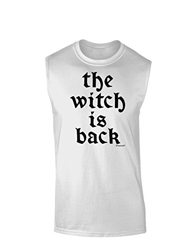 TooLoud The Witch is Back Muscle Shirt - White - Large -