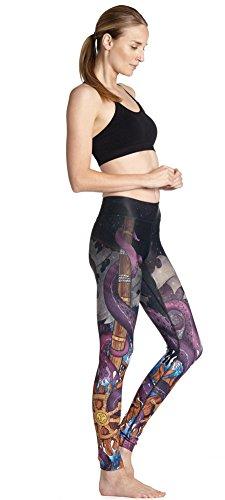 HYHAN Nuevas damas delgado cadera sudar-absorbente respirable yoga pantalones yoga-0036