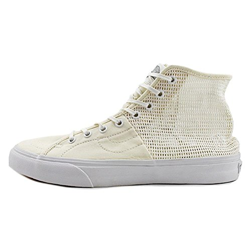 Vans Mens Sk8-hi Decon Spt Hight Översta Spets Upp Mode Gymnastikskor (mesh) Sann Vit
