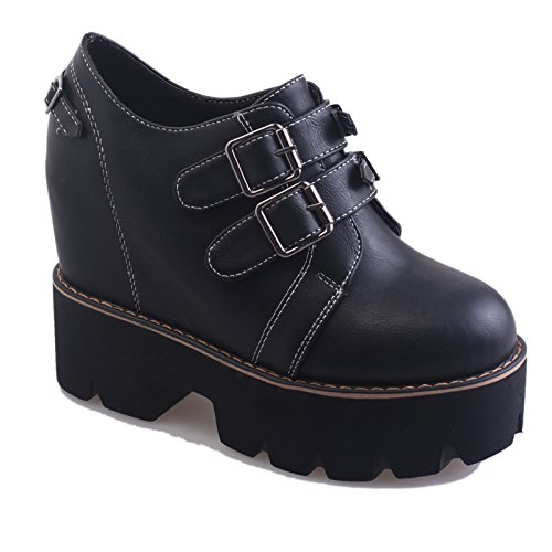 Scarpe Con Slope Shoes Nuove KHSKX Diminuito Heeled Con Spessore Documentario Il Maggiore Muffin Scarpe High Marea black U6xwEzwq