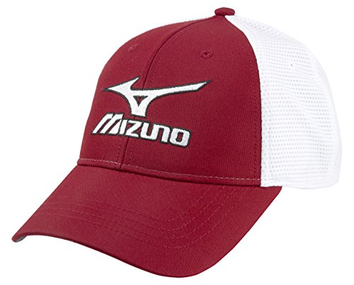 Mizuno 2018 Tour Fitted Cap Cardinal/White, Small/Medium ()