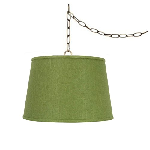 Chain Hung Lamp - Upgradelights Swag Lamp Light Pendant Plug in Chain Hung Apple Green Lamp