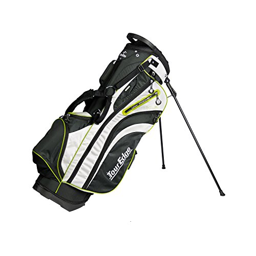 Tour Edge UBAHKSB05 Men's HL3 Stand Bag, Black/Silver/Lime - Edge Stand Bag