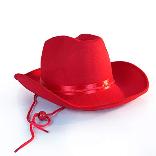 Red Cowboy Hat - One Size with Premium Fit Elastic Band]()