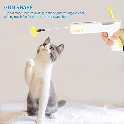 Cat Toys,Feather Ball Indoor Toy,Cat Interactive Toys for Indoor Cats,Cat Toy for Kitten Cat Having Fun Exercise Playing