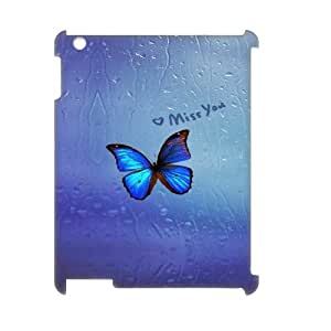 New Design Durable Back Cover Case for Ipad2,3,4 3D Phone Case - Beautiful Butterfly HX-MI-058623