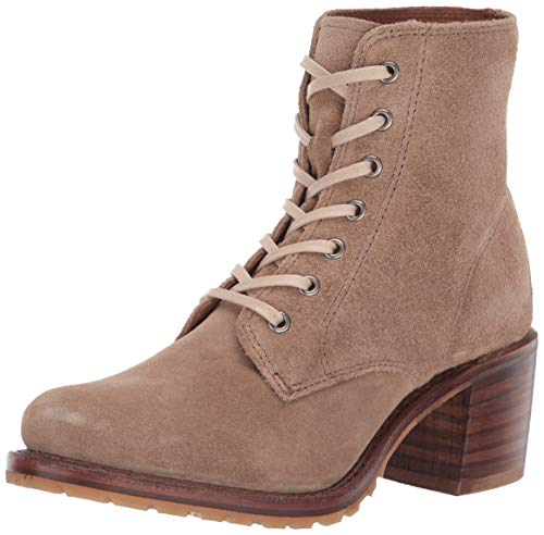 FRYE Women's Sabrina 6G Lace Up Combat Boot Beige 11 M US