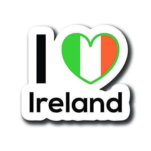 Kerry Van - Love Ireland Flag Decal Sticker Home Pride Travel Car Truck Van Bumper Window Laptop Cup Wall - One 5 Inch Decal - MKS0110