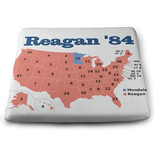 N/A Cojin de espuma viscoelastica para silla, diseno de Presidente Ronald Reagan