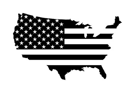 USA American Flag Country Outline Patriotic Stars And Stripes Die Cut Decal Vinyl Home Decor