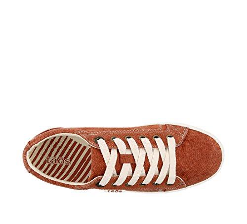 Taos Footwear Damen Star Fashion Sneaker Verbranntes orange gewaschenes Segeltuch