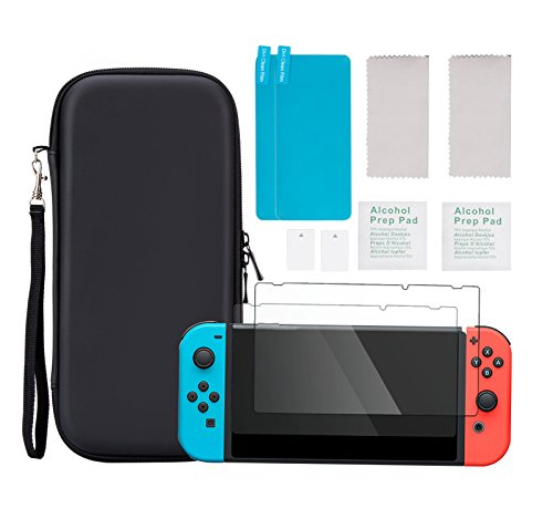 AGPTEK Carrying Nintendo Switch Tempered Protectors