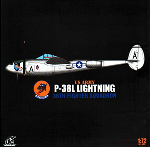 JCW72P38001 1:72 JC Wings Military USAAF P-38L Lightning 36th Fighter Squadron (pre-Painted/pre-Built) ()
