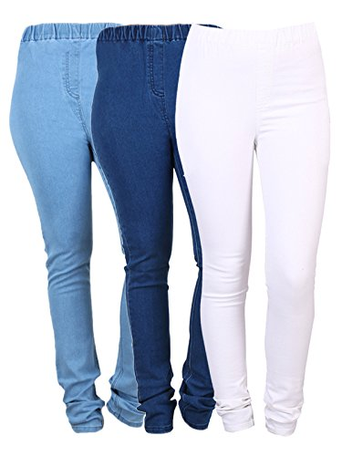 477ff7d1debae Danbro Womens Denim Jeggings Royal Blue and Black (Pack of 3): Amazon.in:  Clothing & Accessories
