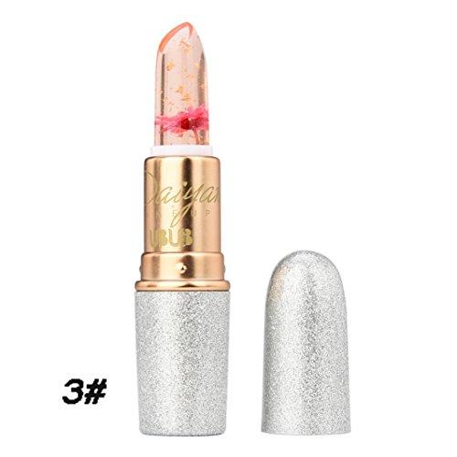 Hunputa Lipstick,Women Professional New Beauty Bright Flower Crystal Jelly Lipstick Magic Temperature Change Color Lip (4PCS) by Hunputa (Image #3)'